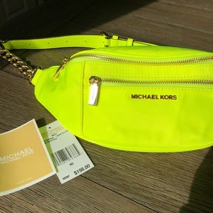 Michael Kors Neon Yellow Fanny Pack